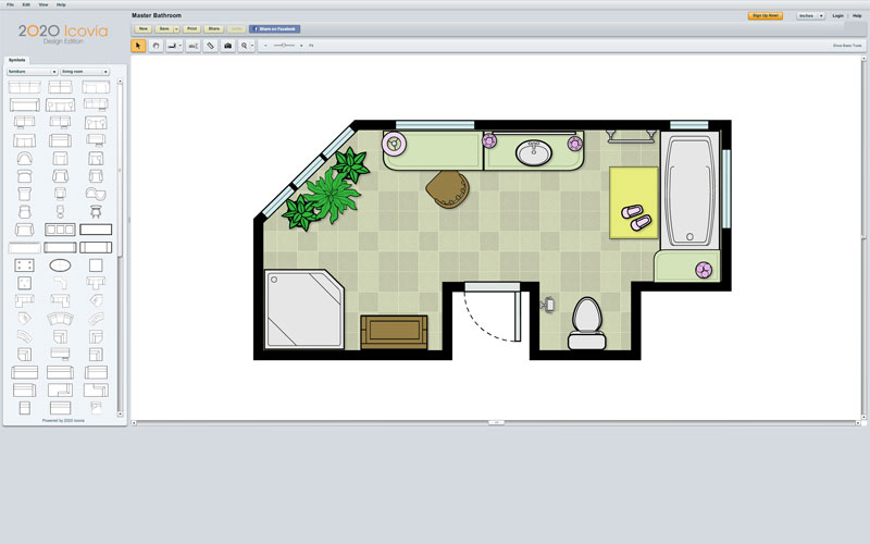 Room planning software 2020 icovia 2d space planning for Space layout tool